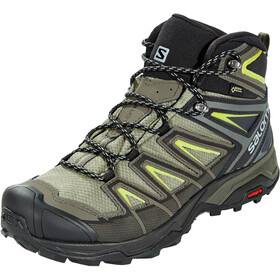 Salomon X Ultra 3 Mid GTX Zapatillas Hombre, castor gray/black/green sulphur